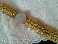 Antique Silk Soutache Trim Braid Cord Gold Length Vintage Textiles Supplies