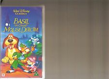 DISNEYS BASIL THE GREAT MOUSE DETECTIVE VHS VIDEO KIDS