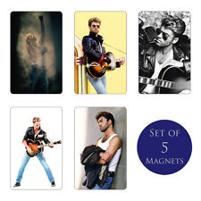 George Michael Fridge Magnets Set of 5 NEW Monkey Faith I Want Your Sex Freedom
