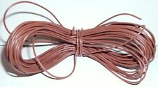 Model Railway/Railroad Layout/Point Motor Wire etc 1x20m Roll 7/0.2mm 1.4A Brown
