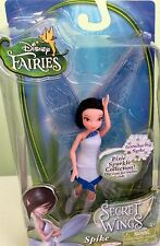 "Disney Fairies SPIKE Secret of the Wings 4.5"" Pixie Sparkle Doll - NEW"