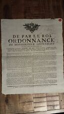 1 Page Ordinance from King Louis XVI, France, 1776