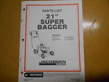 "Homelite 21"" Super Bagger Parts List JA-99127-9 Revision 1"