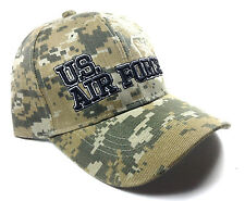 UNITED STATES AIR FORCE TEXT DIGITAL CAMO HAT CAP MILITARY CAMOUFLAGE USAF LOGO