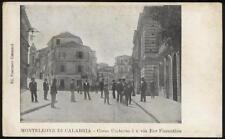 cartolina MONTELONE DI CALABRIA corso umberto I e via f.fiorentino