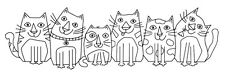 Woodware Trasparente singoli TIMBRO-Les Chat frs346