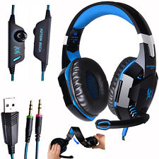 EACH G2000 Game Headphones Gaming Headset Over Ear with Mic Stereo LED Headphone