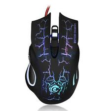 New USB 2.0 5500DPI Wired Gaming Mouse Backlight Illuminated Multimedia Mice