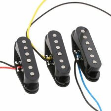Black  Alnico 5 Alnico V Single Coil Pickup SSS for Strat Style Guitar pack of 3