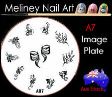 A7 Stamping Nail Art Image Plate Design Round XL Stencil metal