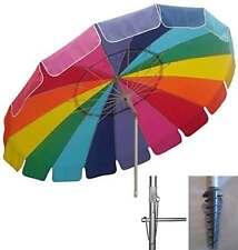 Beach Umbrella Rainbow Sand Anchor Auger Pop Up Shelter Sun Shade Beach Shelter