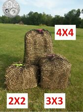Medium Slow-Feeder-Hay-Net-3x3-Round-Bale-Flat Slow Feed Horse Hay Net 30X30mm