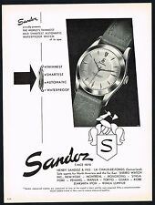 1950's Old Original Vintage 1953 Sandoz Automatic Waterproof Watch Art Print AD