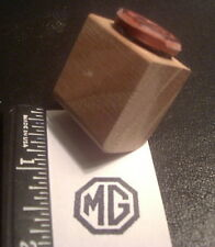 MG Classic British Sports Car Octagon Logo Rubber Stamp, small size