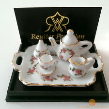 Reutter Lisa Tea Set On Tray 1:12 Porcelain Dolls House Miniature 1.625/8