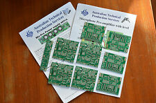 PCBs for microphone Pre-amplifier using INA217/SSM2017 - Eight pack