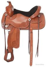 16.5 Inch Western Trail Saddle - Royal King - Light Chestnut Leather