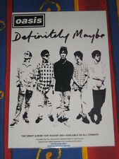 Oasis - Definitely Maybe -  Laminated Promo Poster