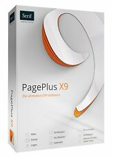 PagePlus X9 Publisher Page Plus Professional DTP Software + DriverGenius 12 CD