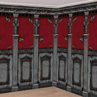 Gothic Mansion Room Scene Setter Room Roll - Halloween Party Backdrop Decoration
