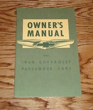 1948 Chevrolet Owners Operators Manual 48 Chevy Fleetline Fleetmaster
