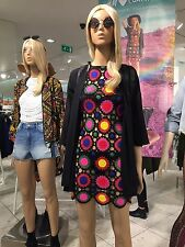 H&M Loves Coachella Crocheted Multicolor Dress - UK 12 / EU 38 / US 8 - New