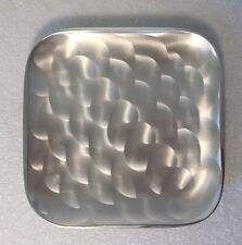 """NEW VTG PEARLIZED by MOBEN SILVER 4 FOOTED PLATE  TRAY10""""X10"""""""