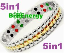TITANIO Pulsera de alimentación de energía magnética germanio Brazalete Salud Bio 5in1 Bio