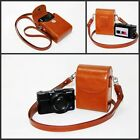 brown /tan or pink leather camera case bag to Samsung WB350F WB50F WB35F B20