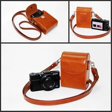 brown / tan leather camera case bag pouch for Sony HX90V HX90 WX500 RX100IV /III