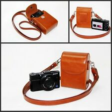 brown or pink camera leather case bag pouch for Nikon Coolpix S810c S32 AW120 B2