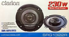 "NEW Clarion SRG1322R Coaxial 5-1/4"" Car Audio Speakers, 5.25"" (1 PAIR)"