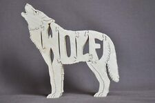 Running or Howling Wolf Wood Puzzle Amish Made Toy  NEW