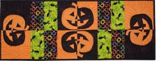 ~ NEW PLACEMAT & TABLE RUNNER PATTERN ~ JACK-O-LANTERNS &  BLACK CATS~