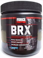 Force Factor BRX Pre Workout Drink Powder Blue Raspberry 40 Servings