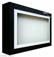 Large Deep Shadow Black Box Display Frame for Baby Casts, Objects, Keepsakes,