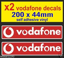 2x Vodafon Racing Car Motorcycle decal van truck slot car sponsor sticker vw dub