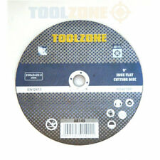 "(PACK OF 10) (9"") 230mm x 2mm Thin stainless steel metal cutting discs inox flat"