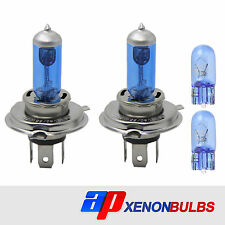 H4 60/55w BIANCO XENON Headlight Bulbs si adatta a FORD FIESTA mk4 1.25i 16v