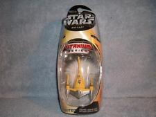 Yellow Naboo Fighter Titanium Series Die-Cast Star Wars 2005 Micro Machines New