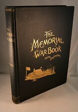 THE MEMORIAL WAR BOOK Civil War 2000 Engraving 1894 1st Edition