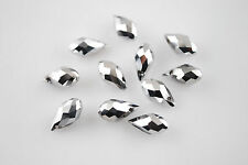 New Charms 20pcs Faceted Glass Crystal Teardrop Spacer Beads Pendant 6x12mm