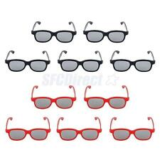 10 PRS Passive 3D Glasses 5 Adults 5 Kids CPL for LG Panasonic Sony TVs Monitor