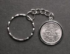1966 lucky World Cup year Sixpence Peace Tree keyring 51st birthday Wedding gift