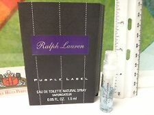 PURPLE LABEL BY RALPH LAUREN 0.05 OZ / 1.5 ML EDT SPRAY SAMPLE NEW