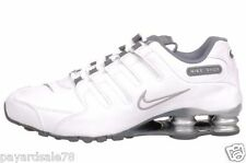 WOMEN'S SIZE 7 NIKE SHOX NZ EU SNEAKERS WHITE / METALLIC SILVER / GRAY NEW