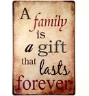 RETRO METAL WALL SIGN TIN PLAQUE VINTAGE SHABBY CHIC FAMILY KITCHEN GIFT MOTHER