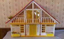Vintage 1970s Barbie Dream House 78 79. A Frame Red Yellow White Mattel Original