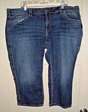 Women's SILVER MCKENZIE Capri Thick Stitch Plus Size Jeans Size: SZ 24