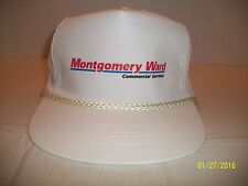 Vintage Montgomery Ward Commercial Services adjustable trucker baseball hat cap